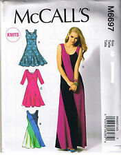Stretch Knit Color Block Pullover Dress McCalls Sewing Pattern Size 6 8 10 12 14