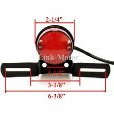 ROUND RED LED MOTORCYCLE ATV TAIL BRAKE STOP RUNNING LIGHT LICENSE PLATE BRACKET