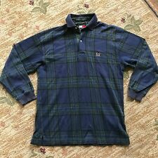 Tommy Hilfiger Plaid Long Sleeve Shirt With Logo Crest Size: S 90s vtg