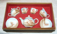ANTIQUE GERMAN KEWPIE ROSE O'NEILL PORCELAIN CHILDS DOLL HOUSE MINIATURE TEA SET