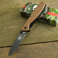 ESEE Zancudo Coyote Brown Black Finish AUS 8A Framelock Knife BRKR1CBB
