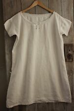 Linen French chemise nightdress BC linen monogram Lace collar  clothing Large