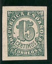Edifil  747gs (*)  SIN DENTAR  15 Céntimos verde  Cifras Habilitad  1938   NL786
