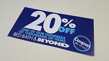 BED Bath BEYOND Promo CODE Coupon 20 OFF One SINGLE Item IN Store USE Shopping**