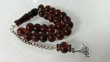 Griechische MASKOT Bernstein Gebetskette TESBIH Amber Prayer Beads