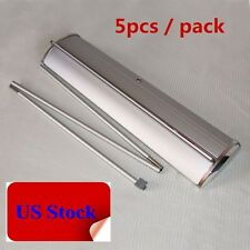 "US Stock 5pcs 33""Wx79""H Silver Cap Broad Base Retractable / Roll Up Banner Stand"