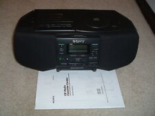 MINT!  SONY S33  CD Radio Cassette Player Recorder Portable Boombox VINTAGE 1997