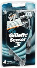 Gillette Sensor3 Disposable Razors Mens 4 Each (Pack of 2)