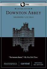 New SEALED Downton Abbey Seasons 1-4 DVD, 2014, 12-Disc Set Masterpiece 1 2 3 4