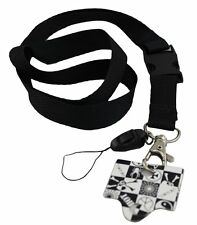 Plain Black Lanyards, ID card holder, Key Neck Strap Lanyard, Phone Neck Strap