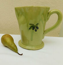 Vintage green gin pitcher old pottery jug for ornamental use only