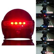 LED Motorcycle Helmet Stop Brake Light w/ Turn Signal for Harley Honda Suzuki
