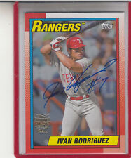 "2014 TOPPS ARCHIVES FAN FAVORITES IVAN  ""PUDGE"" RODRIGUEZ /25  AUTOGRAPH AUTO"