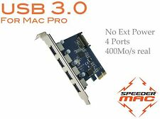   USB 3.0 PCI Express adapter card 4 port for Mac Pro 1.1 à 5.1 - 2006 to 2012