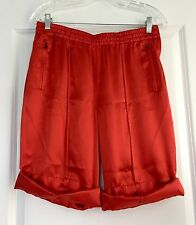 PRADA Authentic Red Silk Knee/Walking Shorts Comfy! IT 40 US 4 6