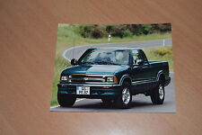 PHOTO DE PRESSE ( PRESS PHOTO ) Chevrolet S 10 Pick-Up 4.3 de 1997 GM121