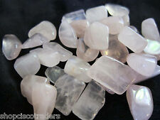 Rose Quartz Tumbled Stone 25mm QTY4 Healing Crystal Reiki Love Relationships