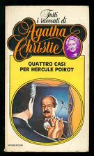 CHRISTIE AGATHA QUATTRO CASI PER HERCULE POIROT MONDADORI 1981 TUTTI RACCONTI 3