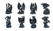Complete set of 8 Dragon Statue Figurine Figure Fantasy Myth 3.5 Inches Each