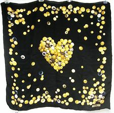 ITALY Moschino Larioseta Como SETA Silk 34x34 Women Scarf Lady Gorgeous Gift NEW