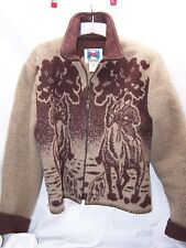 WOODED RIVER Clothing Co Womens Wool Horse equestrian Western Jacket Coat Sz L