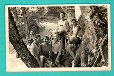 LATVIA LETTLAND SEMI NUDE MEN VINTAGE POSTCARD 407