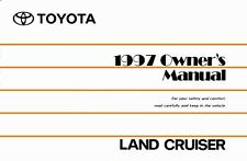 1997 Toyota Land Cruiser Owners Manual User Guide Reference Operator Book
