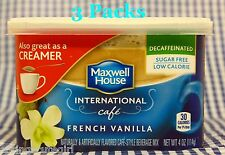 3 Maxwell House International Cafe FRENCH VANILLA Decaffeinate Coffee Creamer