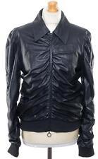 Fabulous MOSCHINO LEATHER jacket BUTTER SOFT UK 14 US 12 EU 42 IT 46 PRISTINE
