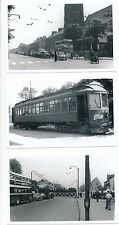 Yorks HULL x3 tram trolley bus x3 1945-58 photographs Packer
