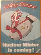 Tin Sign Vintage Fallout Merry Christmas Nuclear Winter Is Coming!