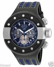 Invicta 19176 S1 Rally Men's Black/Blue Leather 52mm Watch Chronograph