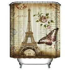 Paris Eiffel Tower Waterproof Kids Bathroom Shower Curtain Home Decoration