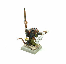 WARHAMMER FANTASY ARMY SKAVEN WARLOCK  PAINTED AND BASED