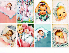 8 BABY - RETRO VINTAGE SCRAPBOOK PAPER CRAFT CARD TAGS