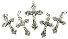 """MRT Lot Of 5 Grape Leafs Rosary Crucifix Pectoral Pendant Charm Gift 1"""" Italy"""