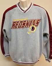 Mens LEE SPORTS Washington REDSKINS Football Sweat Shirt MEDIUM M GRAY Mesh
