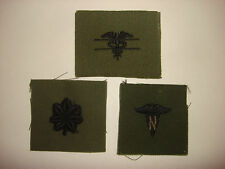 3 US Military Subdued Patches: EXPERT FIELD MEDIC + Lt COLONEL Rk + NURSE Corps