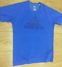 ADIDAS CLIMATE 365  MENS BLUE SHORT SLEEVE SPORT T SHIRT XS