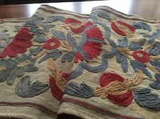 Antique/Vtg Hand Made  Suzani Chain Stitch Table Runner/Wall Hanging*AWESOME