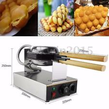 220V Stainless Steel Nonstick Electric Egg cake oven QQ Egg Waffle Maker Machine