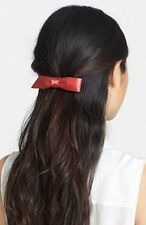 NEW L. Erickson USA 'Bermuda Bow' Silk Charmeuse Barrette in Sunset ($46 Retail)