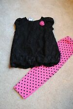 HEALTHTEX Toddler Girl 2 piece Outfit ~ Size 3 3T ~ Leggings Shirts