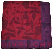 AUTHENTIC GIVENCHY 100% SILK BURGUND PURPLE SCARF