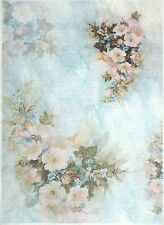 Ricepaper for Decoupage Decopatch Scrapbook Craft Sheet A/3 Vintage Flowers