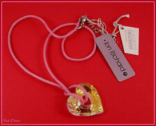 JON RICHARD SWAROVSKI IRIDESCENT CRYSTAL HEART PENDANT NECKLACE TICKET PRICE £30