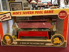 The Simpsons Pool Game Moe's Tavern Tin Wind-up Toy. MIB. Free Shipping