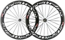 Superteam 700C Carbon Wheels 50mm Carbon Bike Clincher Wheels Bicycle Wheelset