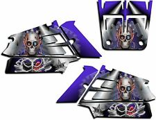 YAMAHA BANSHEE GRAPHICS WRAP DECAL STICKER KIT TURBO CHARGED SHROUDS BLUE