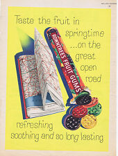 Vintage Confectionery Advertising poster  A4 RE PRINT Rowntrees Fruit Gums